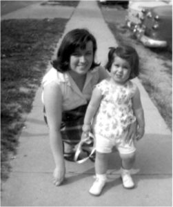 Mom and me, when I was around two.  Doesn't she remind you of Mary Tyler Moore?
